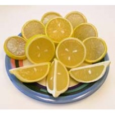 "Lemon Slices and Wedges ¼ and ½"" - 12/bag"