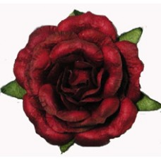 Ruffled Paper Rose - Red - 24/bag
