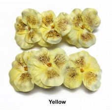 Paper Pansy - 6 per bag - Handmade - Yellow