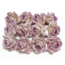"Paper Roses - Lt Mauve Color - 1½"" with Life-like appearance"