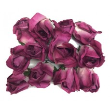 "Paper Roses - Dark Rose Color - 1"" Buds with Life-like appearance"
