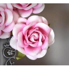 "2"" Paper Roses  -  25 Light Pink Roses/Bag - Paper/Parchment - NEW"