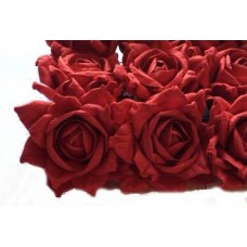"2"" Paper Roses-Mercedes Red -12/bag - Sold Out  -More to arrive soon! See Preserved Red Roses!"